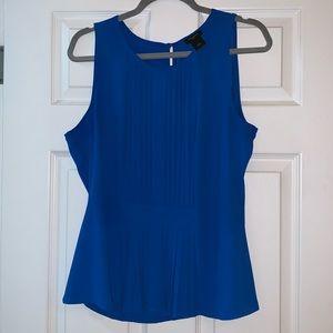 Ann Taylor Cobalt Blue Peplum Top - sz 10